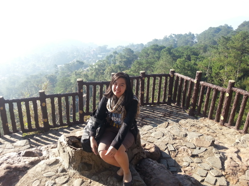 Sitting pretty behind the spectacular scenery! :)) It almost looks like I'm somewhere outside the Philippines, but no! Still in the country, folks. This is Baguio!